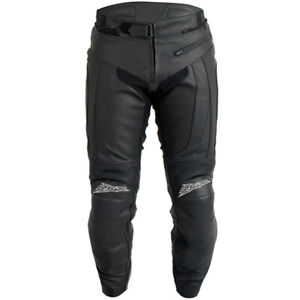 RST-1069-R-16-Leather-Motorcycle-Motorbike-Pants-Jeans-Trousers-Black