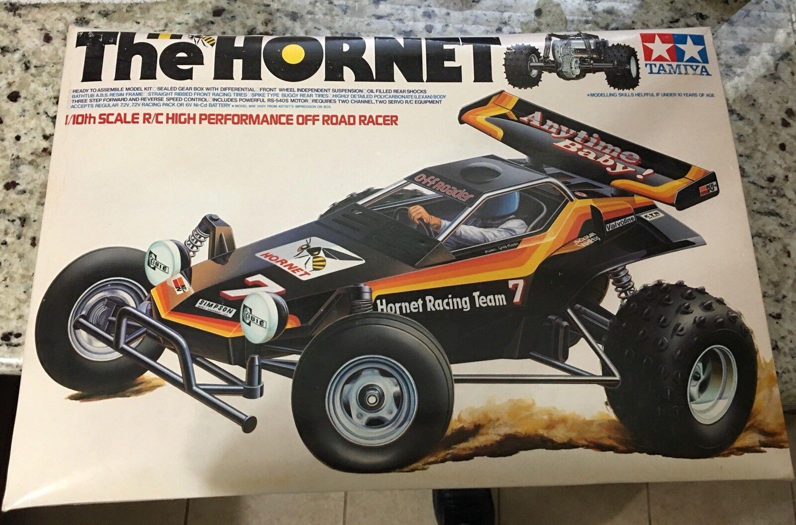 Vintage Tamiya Hornet Car Box And Parts