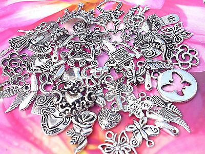 55 Nice Mix Tibetan Fairy, Butterfly,Flower, Wings Key  Charms *To Clear *New!