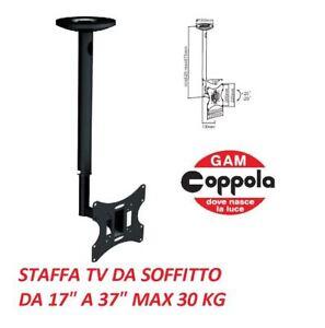 Staffa Porta Tv Da Soffitto.Dettagli Su Staffa Supporto Soffitto Porta Tv Lcd Led Plasma Da 17 A 37 Pollici Sospensione