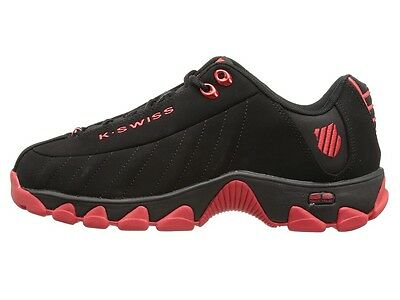 K-Swiss 0866-032: Classic ST329 BLACK/New-2015-Red Training Sneakers Men Size