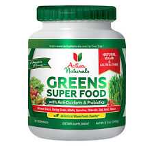 Premium Greens Super Food Powder with Vegan, Organic & Raw Plant-Based Foods