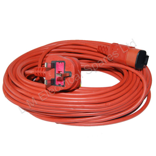 Mains Power Cable Lead Plug For Flymo Garden Vacuum Electric Mower Hedge Trimmer