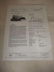 Actif Rda Publicité Publicité Prospectus Feuille De Données Chenille Bouteur D 49 4 A Urss 1968-afficher Le Titre D'origine