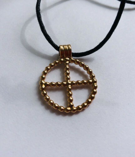 Anglo Saxon Cross Pendant Necklace Bronze Solar cross Viking  Norse jewellery