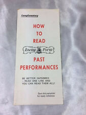 HOW TO READ A DAILY RACING FORM, COMPACT TRI-FOLD, 1970'S***FREE SHIPPING***