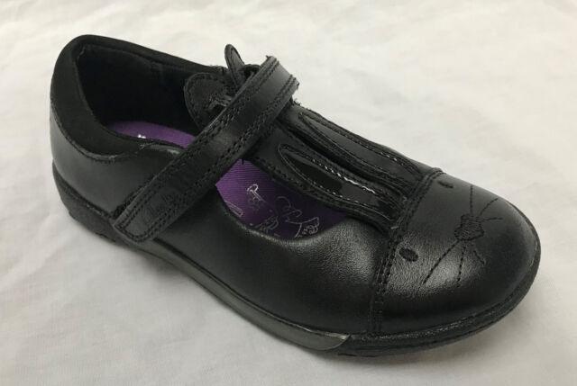 BNIB Clarks Girls Binkies Nibbles Jig Black School Leather Shoes E/F/G/H Fitting