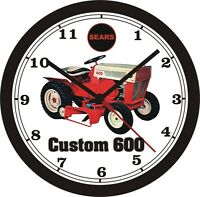 Sears Custom 600 Lawn Tractor Wall Clock-free Us Ship