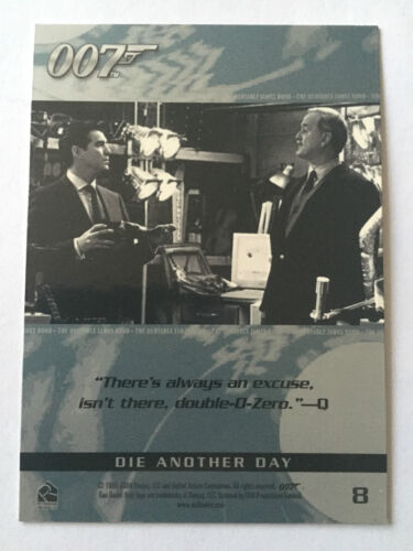 James Bond 007 Trading Cards Quotable