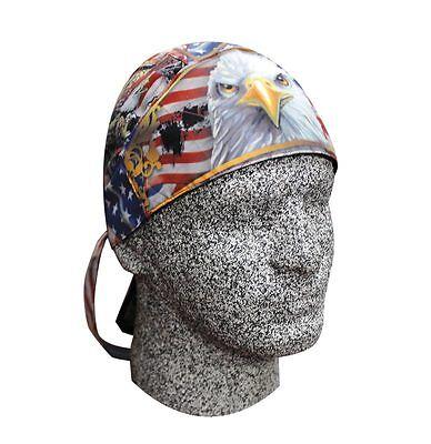 Freedom Never Free Eagle Flag Head Wrap Durag Sweatband Capsmith Biker Patriotic