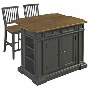 Stupendous Details About Home Styles Americana Kitchen Island With 2 Stools In Gray Squirreltailoven Fun Painted Chair Ideas Images Squirreltailovenorg