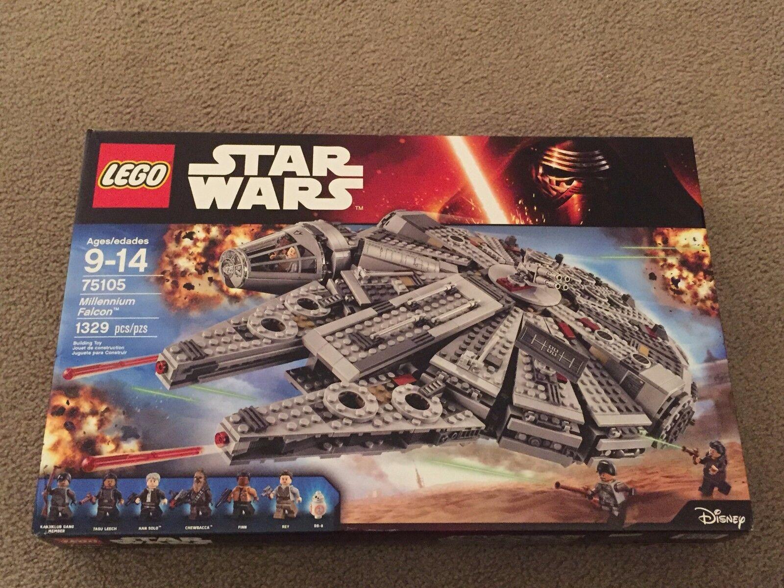 Lego Star Wars Millennium Falcon The Force Awakens 75105 Building Kit NEW