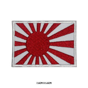 Japan-National-Flag-Embroidered-Iron-On-Sew-On-Patch-Badge-For-Clothes-Bags-etc