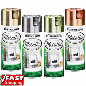 Rust Oleum Metallic Silver Gold Brass Copper 312g Spray Paint Reflective Finish Ebay