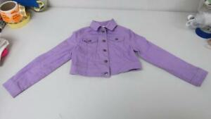 Piper-Purple-Cropped-Jacket-Cotton-Stretch-Size-6-6X-USED-TL31