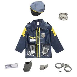 Image is loading Children-Policeman-Cosplay-Costume-Kids-Police -Uniform-Fancy-