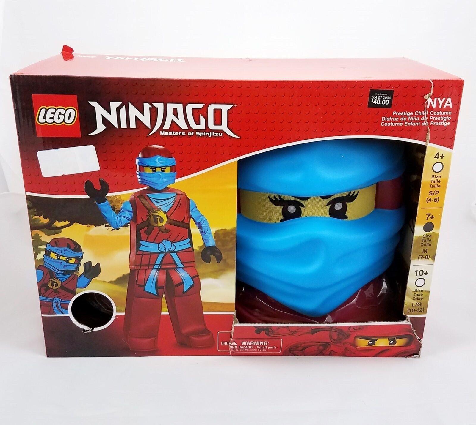 Disguise Lego Ninjago Nya Deluxe Halloween Costume Girls Childs Medium 7-8  NEW for sale online
