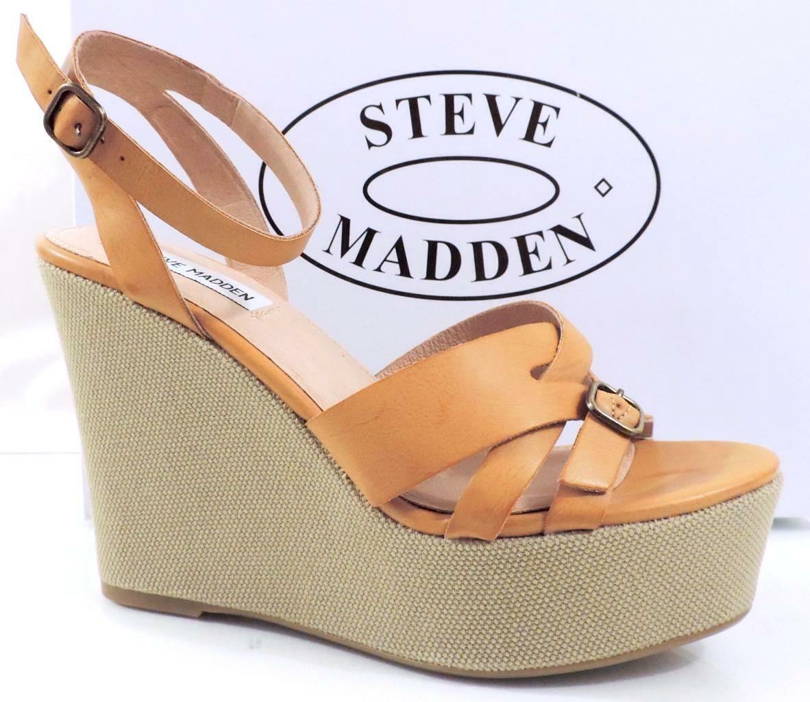 negozio online donna Steve Madden Twitzer Ankle Strap Platform Wedge Wedge Wedge Sandals Cognac Dimensione 9  fornire un prodotto di qualità