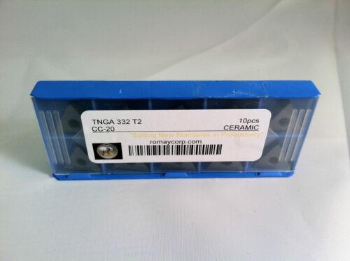 TNGA 332 T2 CC-20 Ceramic Insert