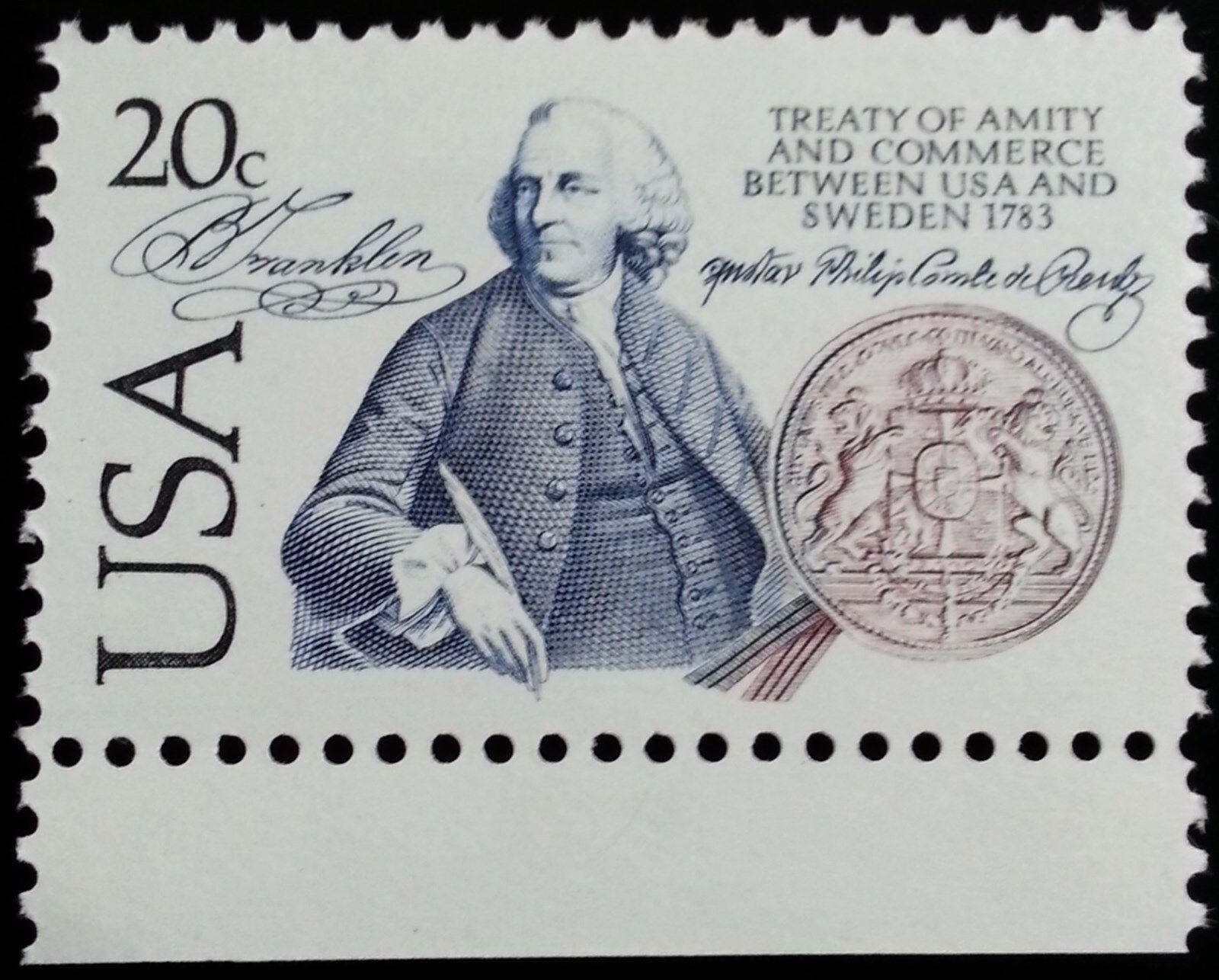 1983 20c Benjamin Franklin, Treaty of Amity & Commerce