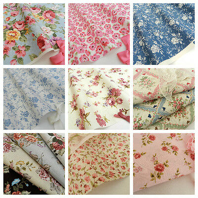 "FLORAL FABRICS/material  sold per half metre 44"" 112cm wide 100 % cotton"