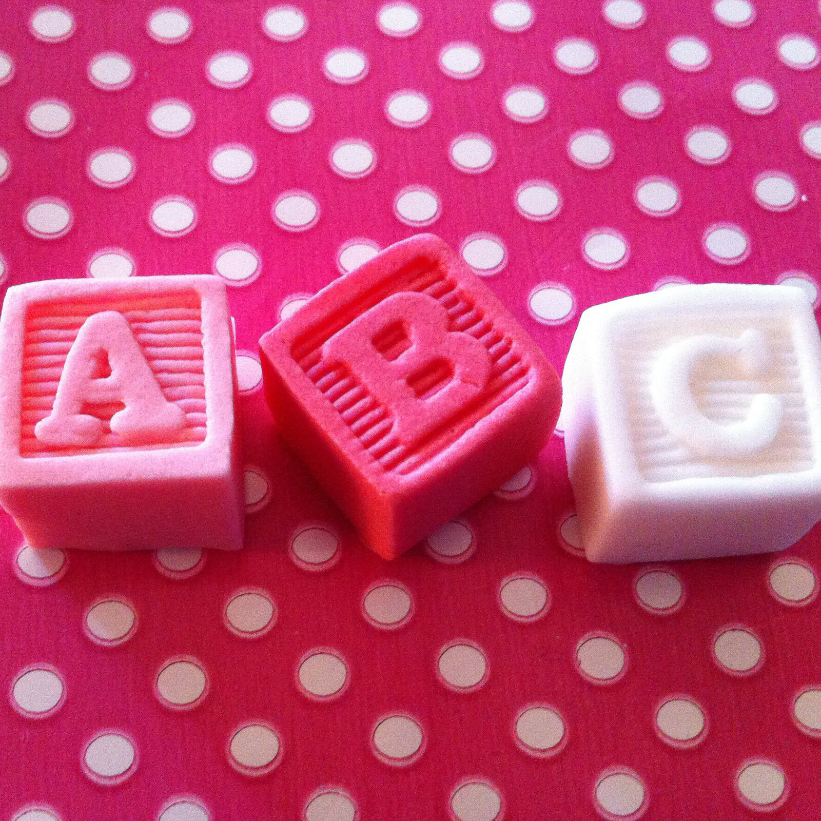 9 edible toy abc name blocks baby shower christening for Alphabet blocks cake decoration