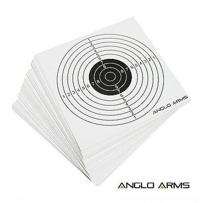 50 x 14cm CARD PAPER TARGET 4 Pellet Trap Catcher soft Air Gun Rifle 177 .22 BB