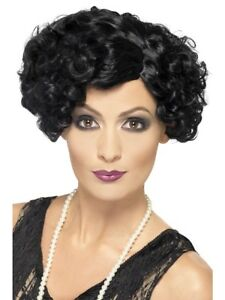 Women Black Short Flappers Wig Ladies 1920s Flapper Wig Fancy Dress Accessory