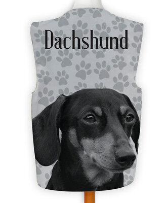 Novelty Waistcoat Fun Fancy Dress Informal Wacky Party Dog Show Dachshund Paw