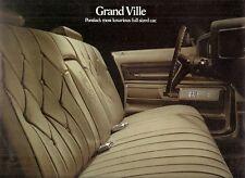Pontiac Grand Ville 1973 USA Market Foldout Sales Brochure 4dr Coupe Convertible