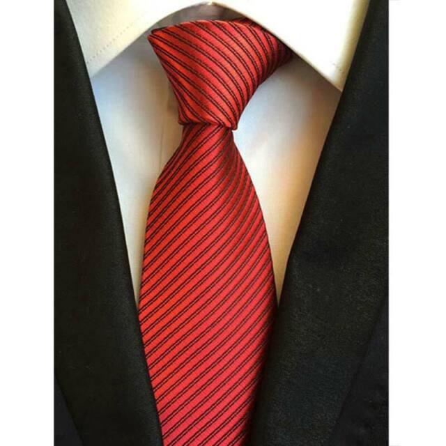 GENTS CLOBBER Classic Striped Mens Stripe Silk Necktie Tie Purple Blue Black