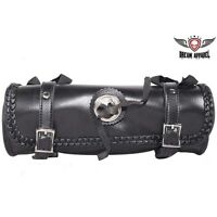 12 Motorcycle Tool Bag With Braid & Concho