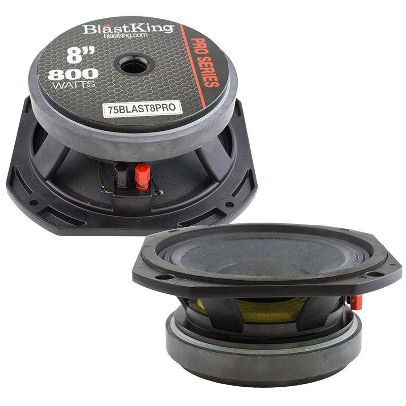 2x BLASTKING BLAST8PRO Ferrite Magnet Mid-bass Frequency Transducer Speaker
