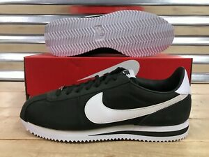 5e787fa69bdc Nike Cortez Basic Nylon Retro Shoes Sequoia Green White Silver SZ ...