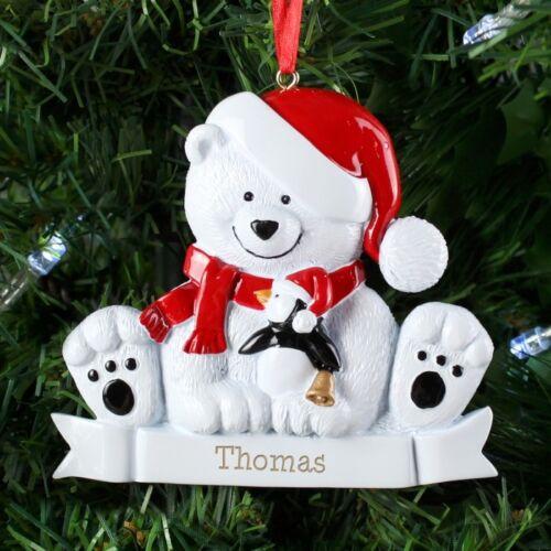 Ajouter tout nom Personnalisé Résine Décorations pour arbres de Noël Garçons /& Filles Cadeau