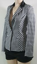 100 % GUESS NEW WOMENS JACKETS CHECKERED PETITES SZ 0=24 98% Cotton 2% spandex,