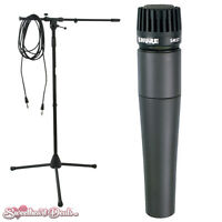 Shure Sm57-lc Dynamic Instrument Microphone With Boom Stand And Cable Sm57