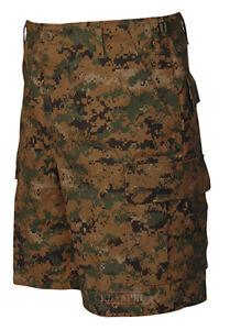 Woodland-Digital-Camo-Men-039-s-BDU-Cargo-Shorts-Poly-Cotton-TRU-SPEC-4228