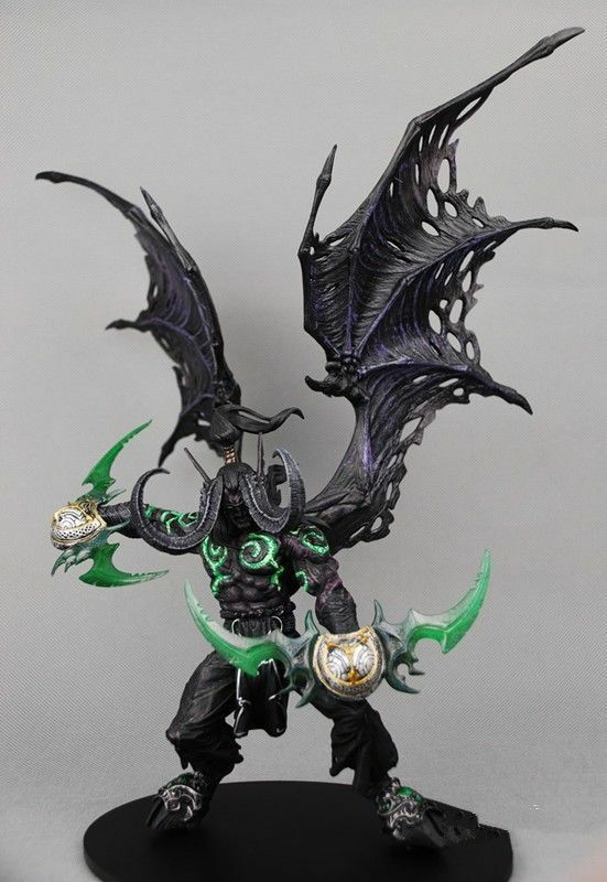 Sin Caja de World of Warcraft formulario Illidan Stormrage demonio Figura De Acción De Juguete