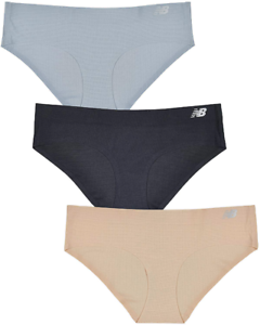 4f3dca5c702a New Balance Pack Of 3 Womens Multicolor Breathe Hipster Panty Sz L ...