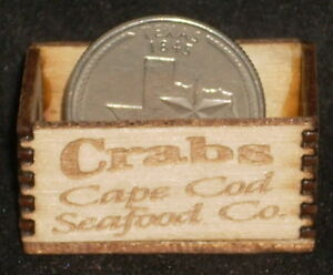 Dollhouse Miniature Crabs - Cape Cod Seafood Crate 1:12 Scale (Massachusetts<wbr/>)