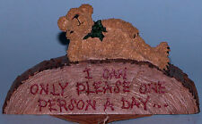"""Boyds Bears desk sign,""""Rudy..Today is Not Your Day"""" #4145, office bear 2004"""