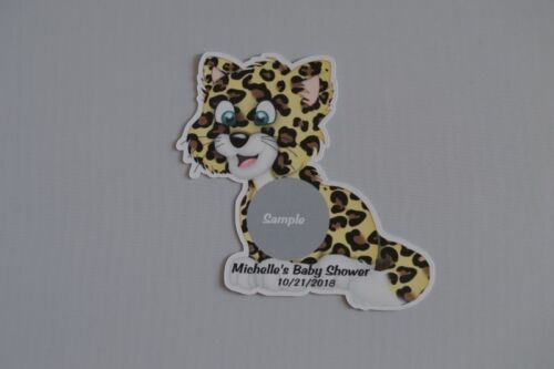 UNIQUE PERSONALIZED JUNGLE ANIMAL BABY SHOWER PARTY FAVOR SCRATCH OFF LOTTO GAME