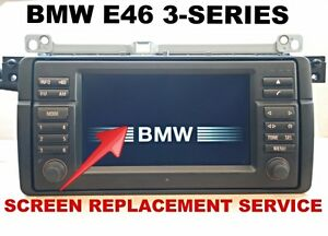 bmw e46 3 series m3 wide screen navigation monitor lcd. Black Bedroom Furniture Sets. Home Design Ideas