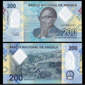 Angola 200 Kwanzas 2020 Prefix A (UNC) 全新 安哥拉 200宽扎 塑料钞 2020年 (#2)