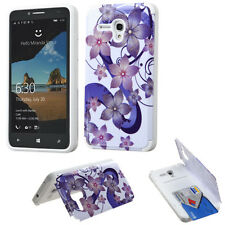 Alcatel One Touch Fierce XL 5054 Hybrid ShockProof Hard Case Cover Rose Flowers
