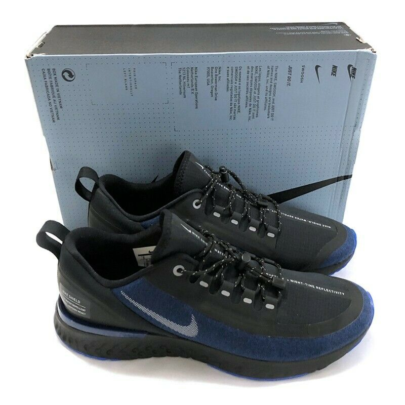 Nike Odyssey React Shield Sneaker Men's shoes Water Repellent bluee Void