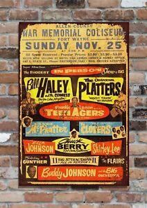 "Bill Haley 10x8"" Retro Vintage Metal Advertising Sign Plaque Wall Art Pic"