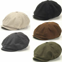 N18 Mens Fashion Driving Basic 8 Panel Gatsby Style Cap Ascot Newsboy Beret Hat