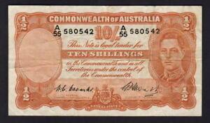 Australia-R-14-1949-10-Shilling-Coombs-Watt-King-George-VI-VF